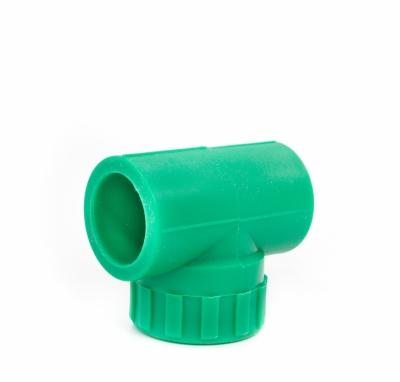 Tê ren trong PPR màu xanh